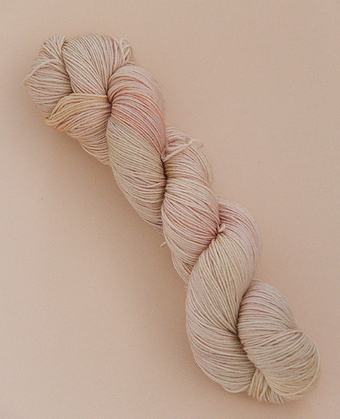 Hand-Dyed Fingering Yarn Skein: Angel Kiss 1
