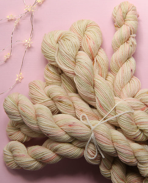 Hand-Dyed Mini Yarn Skein: Apple Blossom