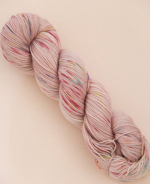 Hand-Dyed Fingering Yarn Skein: Beauty Bar