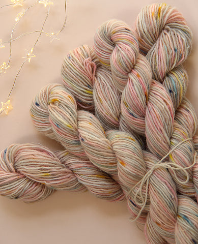 Hand-Dyed Mini Yarn Skein: Birthday Cake