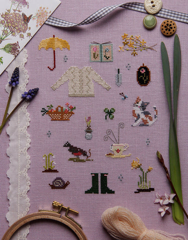 Things of Spring Cross Stitch Sampler Kit