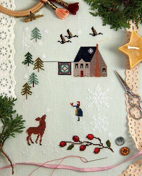 First Snow Cross Stitch Sampler Kit
