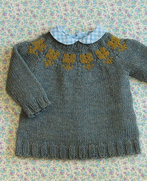 Little Flower Sweater Knitting Pattern