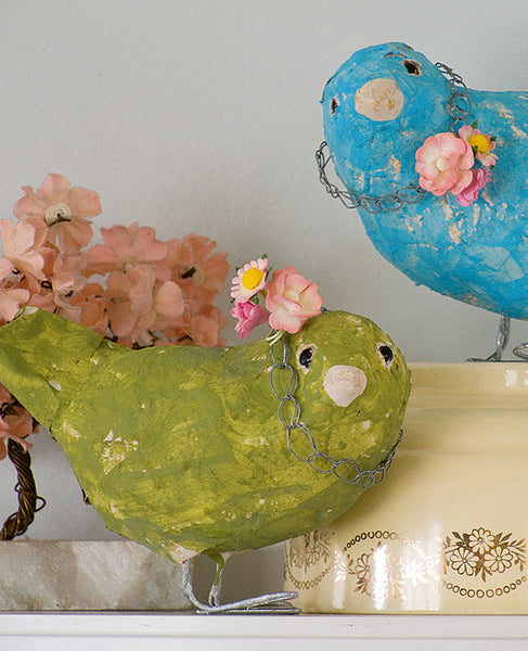 Friendly Bird Papier Mache Sculpture Pattern