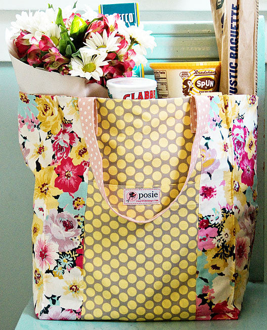 Jane Market Bag Sewing Pattern – Posie: Patterns and Kits to Stitch ...