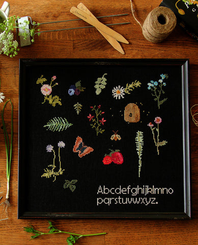 Midsummer Sprigs ABCs Cross Stitch Sampler Pattern