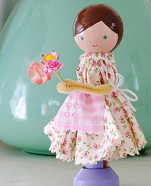 Country Girl Clothespin Doll Pattern