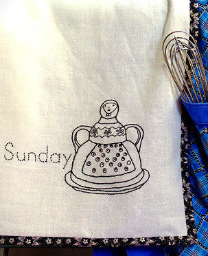 Pleasant Kitchen Dishtowels Embroidery Pattern
