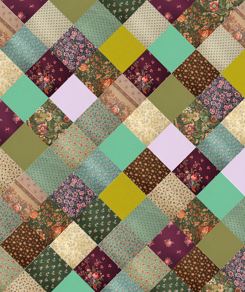 Calicozy ComfyQuilt Top Kit in Plum Tree