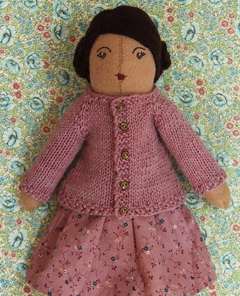 Little Raglan Cardigan for Dolls Knitting Pattern