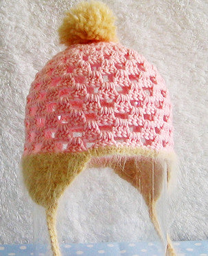 Snowbunny Baby Hat Crochet Pattern Posie Patterns And Kits To