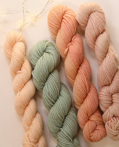 Hand-Dyed Mini Yarn Skein Set: Sunrise