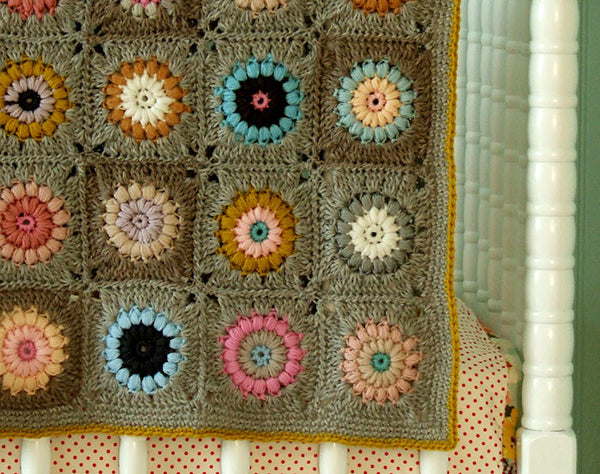 Crochet Patterns Kits : Sunshine Day Afghan Crochet Pattern - Posie: Patterns and Kits to ...