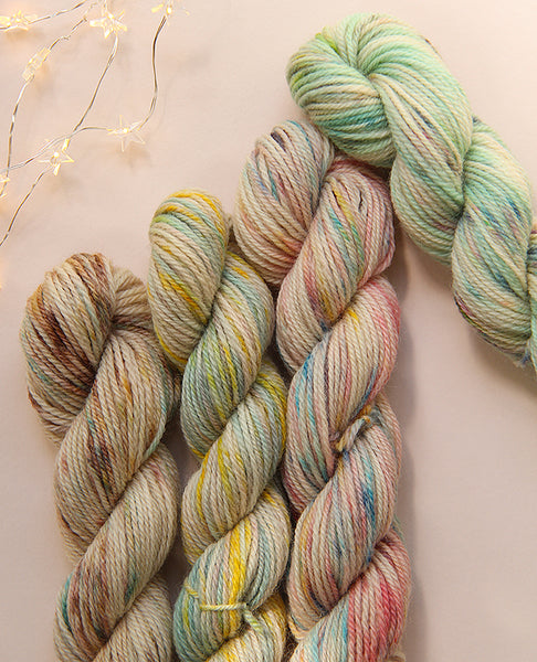 Hand-Dyed Mini Yarn Skein Set: Watercolor