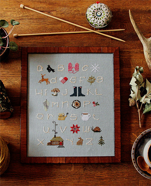 Winterwoods ABCs Cross Stitch Sampler Pattern