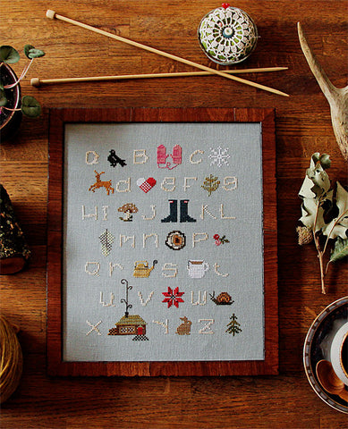 Winterwoods ABCs Cross Stitch Sampler Kit