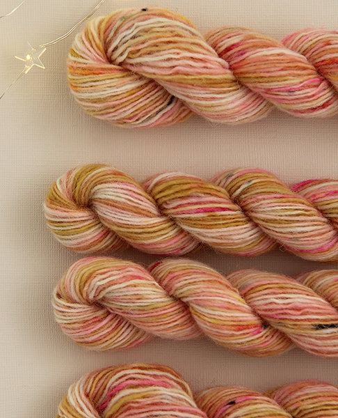 Hand-Dyed Mini Yarn Skein: Zinnia Patch