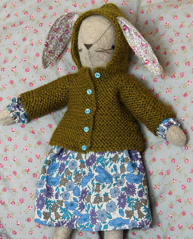 Little Hooded Coat for Rabbits Knitting Pattern