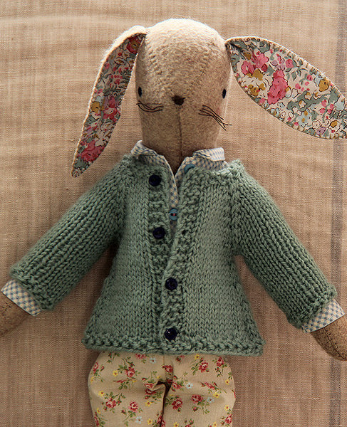 Rabbit Sweater Knitting Pattern : Little raglan sweater for rabbits knitting pattern posie