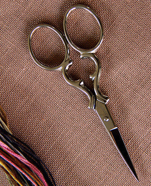 "Bohin Heart-Shaped 3-1/2"" Embroidery Scissors"
