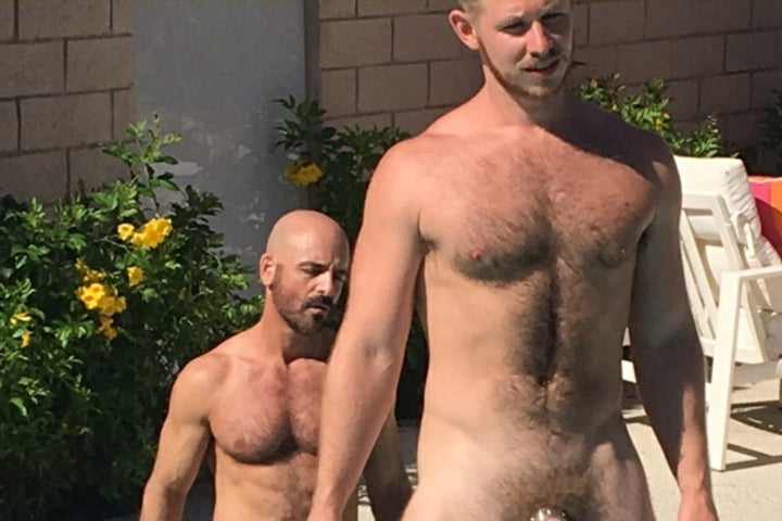 Hot & Wet:  Cockrings & Glans Rings at Adam Russo & Spencer Whitman's pool party