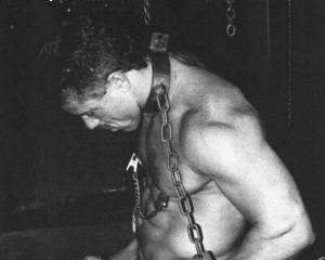 Chained--and loving it in his Titan Cockring