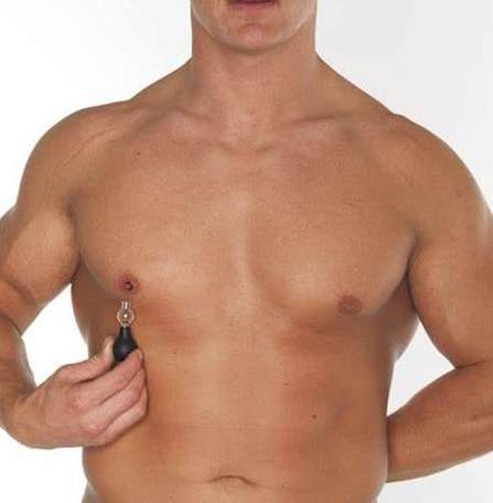 "Greater Nip Definition and Pump with the Nipple Amplifier Bulbs with ""O"" Rings"