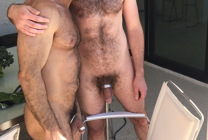 For a nice and thick package:  Seth Fisher in the Half Screw Cockring