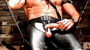 Smokin' Hot in His Leathers & Ball Weight