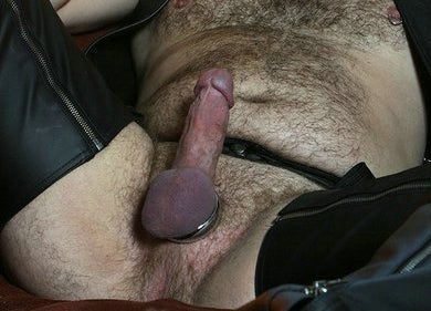 Stogies & Leather…& Hard in His Imperial Cock Ring