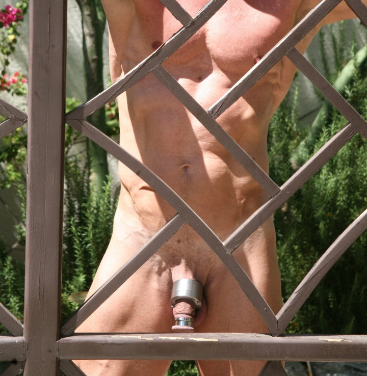 "Hold Cock and Ball Cage:  ""My dick gets thick, veiny and uncontrollable"""