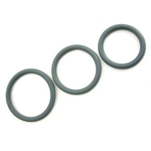 Set of 3 gray nitrile cock rings by M2M™