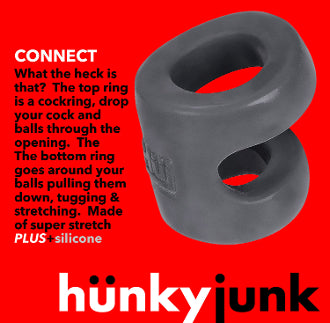 Cock Ring and Ball Tugger by Hünkyjunk in Blue