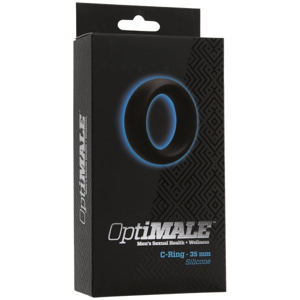 OptiMALE Black Silicone Cock Ring