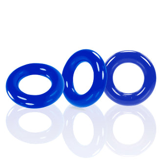 BACK IN STOCK:  Willy Rings 3 - Pack Cock Rings in 3 colors