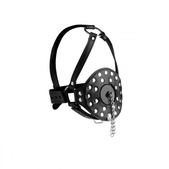 New...  Open Mouth Head Harness with Plug
