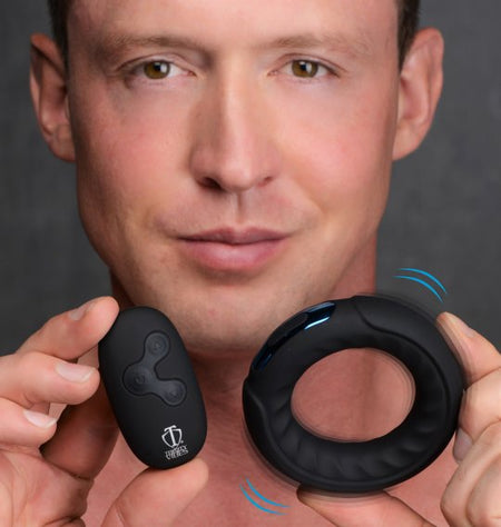 NEW   7x Silicone Cock Ring with Remote Control