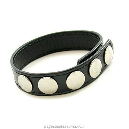 Back in Stock Leather 5-Snap Cock Ring