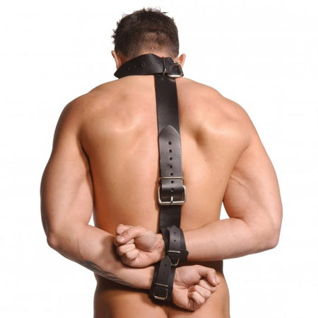 NEW... Leather Neck -  Wrist Bondage Restraint