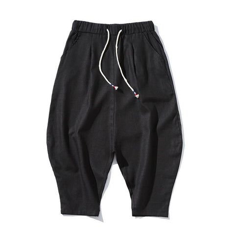 Men's Simple Thin Section Loose Condolence Pants