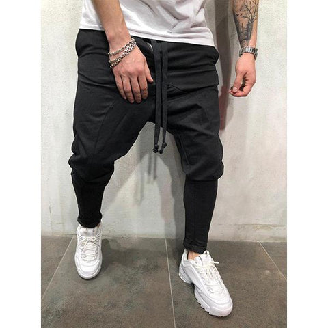 Street Fashion Solid Color Harlan Slim-Fit Pants