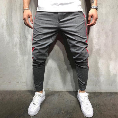 Casual Side Stripe Slim Fit Pants