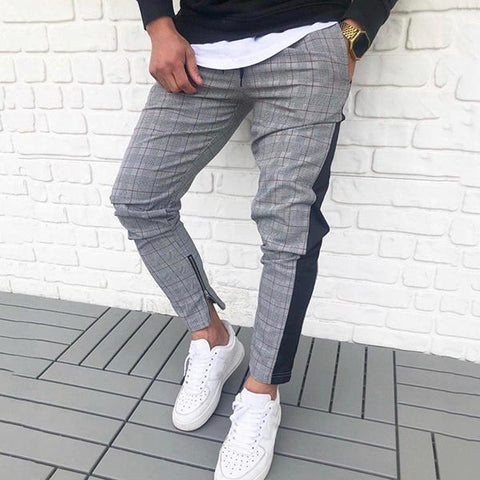 Street Slim Fit Check Pants