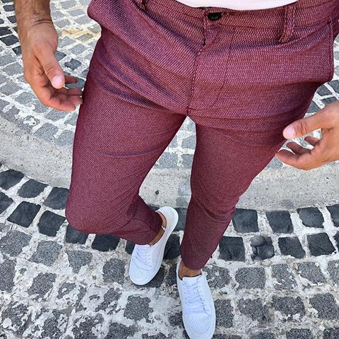 Commuting Simple Slim Fit Pants