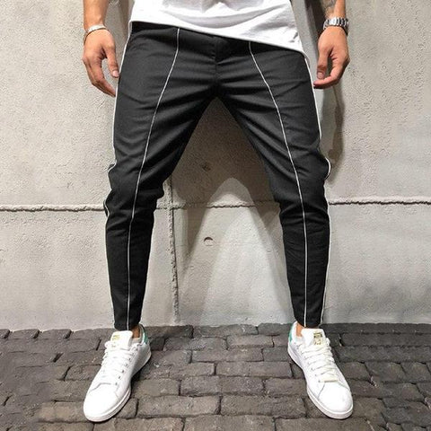 Casual Slim Fit Side Stripe Pants