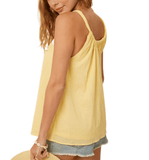 Sunny Button Front Tank - Hudson Square Boutique LLC