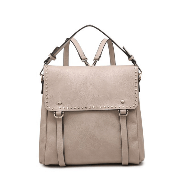 Valerie Studded Backpack Sand - Hudson Square Boutique LLC