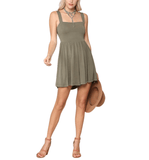 Olive Tie Back Romper - Hudson Square Boutique LLC
