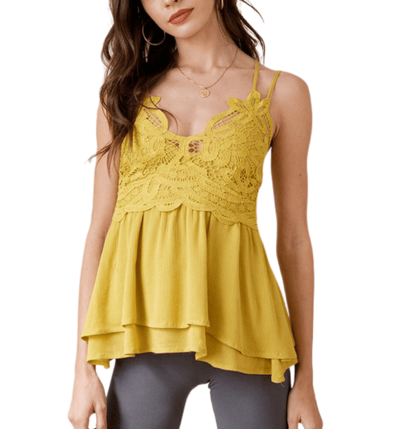 Mustard Bralette Top - Hudson Square Boutique LLC