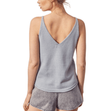 Misty Blue Knit Tank - Hudson Square Boutique LLC